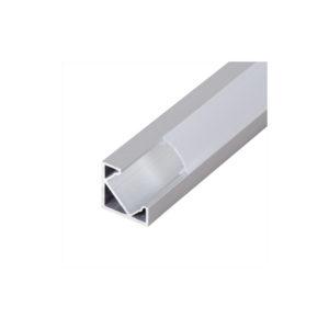 ALUMINIUM PROFILE FOR LED STRIP, ANGULAR WITH BOARD