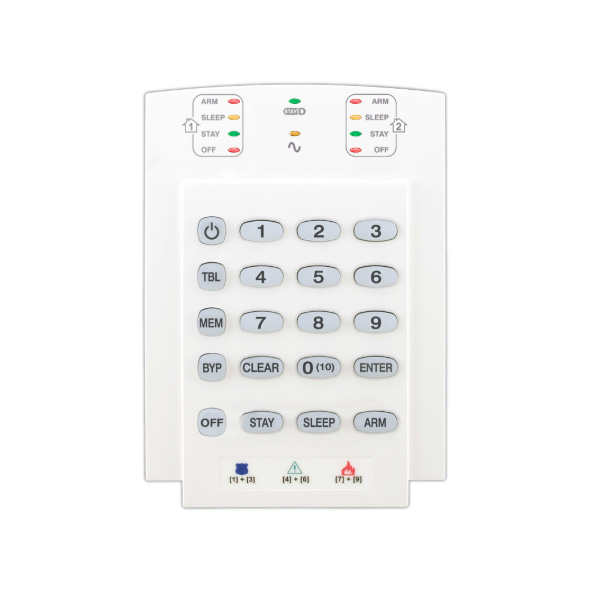 K10V 10-Zone Hardwired LED Keypad Module (Vertical)