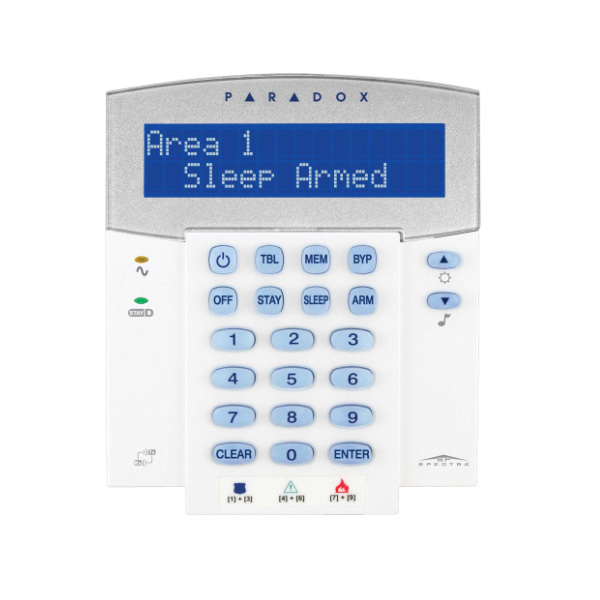 K32LX 32-Character Hardwired LCD Keypad with built-in transceiver