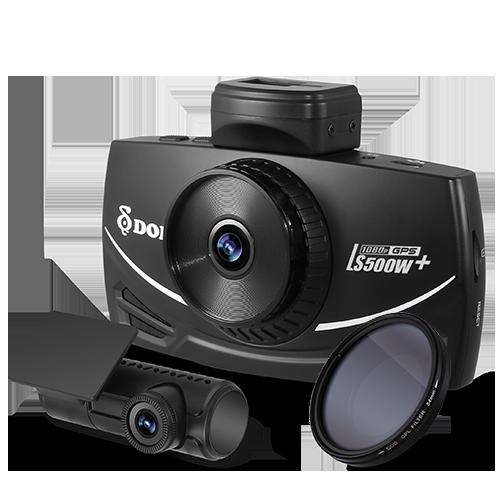 DOD LS500W+ 2 CH Dual 1080p GPS Dash Cam
